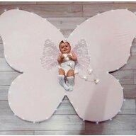 MeowBaby® - Covoras de joaca Fluture din Spuma, 184x135 cm, Roz