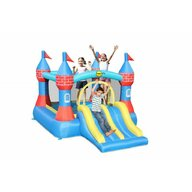 Happy Hop - Spatiu de joaca gonflabil Castel cu tobogan dublu