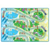 Sobble - Covoras de joaca Asian Train Tour Pliabila, Eco-friendly, 200x140 cm, Multicolor