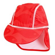 Swimpy - Sapca Fish red , protectie UV , 1-2 ani