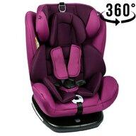 Crocodile - Scaun auto Tweety, rotativ 360 grade, cu Isofix, 0-36 kg, baza neagra, Purple