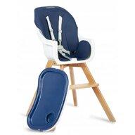 Ricokids - Scaun de masa Multifunctional Lilo , 3 in 1, Cu picioare din lemn, 63x58 cm, Albastru
