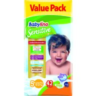 Babylino - Scutece Sensitive Valuepack, N5+, 13-27 kg, 42 buc