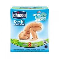Chicco - Scutece  Dry Fit Advanced Midi, nr.3, 4-9kg, 21buc