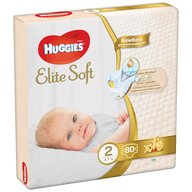 Huggies - Elite Soft (nr 2) Mega 80 buc, 4-6 kg