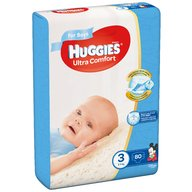 Huggies - Scutece  Ultra Confort Mega Pack (nr 3) Boy 80 buc, 5-9 kg