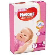 Huggies - Scutece  Ultra Confort Mega Pack (nr 3) Girl 80 buc, 5-9 kg