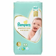 Pampers - Scutece Premium Care 5, Jumbo Pack, 58 buc
