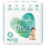Pampers - Scutece Pure 3, Carry Pack, 22 buc