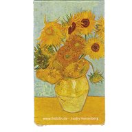 Fridolin - Semn de carte magnetic Van Gogh - Sunflowers