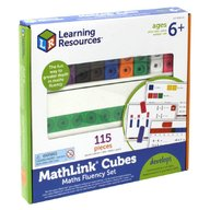 Learning Resources - Set 100 piese MathLink cu carduri pentru avansati