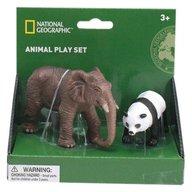 National Geographic - Set 2 figurine, Elefant si Urs Panda