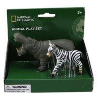 National Geographic - Set 2 figurine, Hipopotam si Zebra