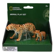 National Geographic - Set 2 figurine, Leopardul si puiul