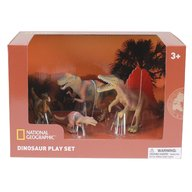 National Geographic - Set 4 figurine Troodon, Spinosaurus, Tyrannosaurus si Puiul
