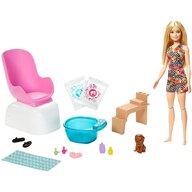 Barbie - Papusa  Salonul de unghii by Mattel Wellness and Fitness