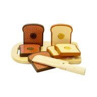 MamaMemo - Set blat de taiat cu paine de jucarie, din lemn,