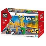 Blocki - Set complet cuburi constructie MyFireBrigade Utilaj pompieri, 75 piese,