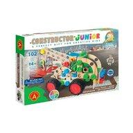 Alexander Toys - Set de constructie Vehicul Masina de tractat , Constructor Junior , 3 in 1, 102 piese din Lemn