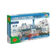 Alexander Toys - Set de constructie Multifunctional Turnul Eiffel , Constructor Pro , 5 in 1, 618 piese metalice