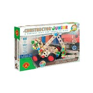 Alexander Toys - Set de constructie Vehicul Motostivuitor , Constructor Junior , 3 in 1, 88 piese din Lemn