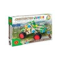 Alexander Toys - Set de constructie Vehicul Off road , Constructor Junior , 3 in 1, 90 piese din Lemn
