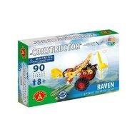 Alexander Toys - Set de constructie Vehicul Raven Aeroplan , Constructor , 90 piese metalice