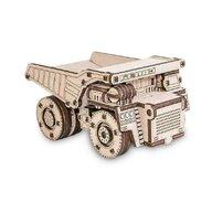 EWA - Puzzle 3D Belaz Mini , Puzzle Copii , Cu mecanism din Lemn, piese 105