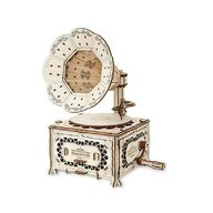 EWA - Puzzle 3D Gramophone , Puzzle Copii , Cu mecanism din Lemn, piese 321