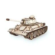 EWA - Puzzle 3D Tank T-34 , Puzzle Copii , Cu mecanism din Lemn, piese 600