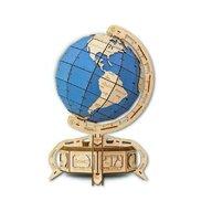 EWA - Puzzle 3D The Globe , Puzzle Copii , Cu mecanism din Lemn, piese 393, Albastru