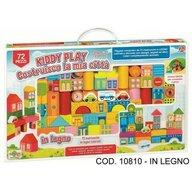 RS Toys - Set de constructie Orasul meu Cu desene, 72 piese din Lemn