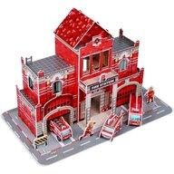 Fiesta Crafts - Puzzle 3D Statie de pompieri Puzzle Copii, piese 72