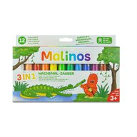 MALINOS - Set creioane retractabile - 12 culori