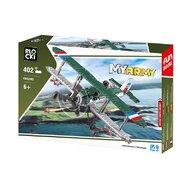 Blocki - Set cuburi constructie MyArmy Avion militar biplan, 402 piese,