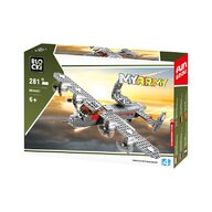 Blocki - Set cuburi constructie MyArmy Avion militar cu elice, 281 piese,