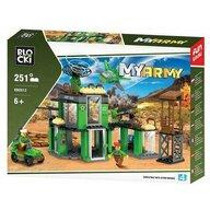 Blocki - Set cuburi constructie MyArmy Baza militara, 251 piese,