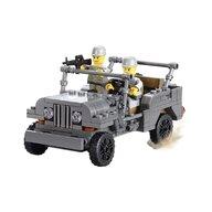 Blocki - Set cuburi constructie MyArmy SUV militar, 199 piese,