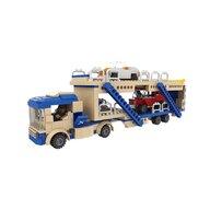 Blocki - Set cuburi constructie MyCity TIR platforma transport masini, 424 piese,