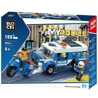 Blocki - Set cuburi constructie MyPolice Brigada de politie, 188 piese,