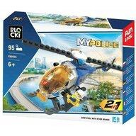 Blocki - Set cuburi constructie MyPolice Elicopter de politie, 95 piese,