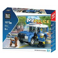 Blocki - Set cuburi constructie MyPolice Jeep-inchisoare, 127 piese,