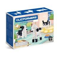 Clicstoys - Set de constructie Multifunctional Animale Prietenoase , Clicformers , 79 piese