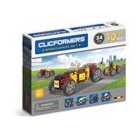 Clicstoys - Set de constructie Multifunctional Masini de viteza , Clicformers , 34 piese