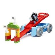 Mega Bloks - Set de joaca Locomotiva Thomas - Vagon, cursa de cale ferata