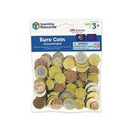 Learning Resources - Accesoriu Set de monede de jucarie Euro