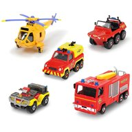Dickie Toys - Set 4 masinute si un elicopter Fireman Sam