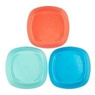 Dr. Brown's - Set de masa Farfurii colorate Pentru bebelusi , 3 buc