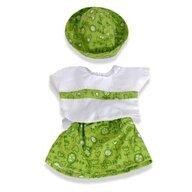 Miniland - Set fusta  bluza si palarie papusi 40-42 cm
