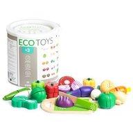Ecotoys - Set legume din lemn 20 buc